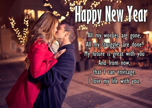Latest Romantic Happy New Year Wishes for Girlfriend and Boyfriend | New year message for boyfriend, New year wishes messages, Happy new year message