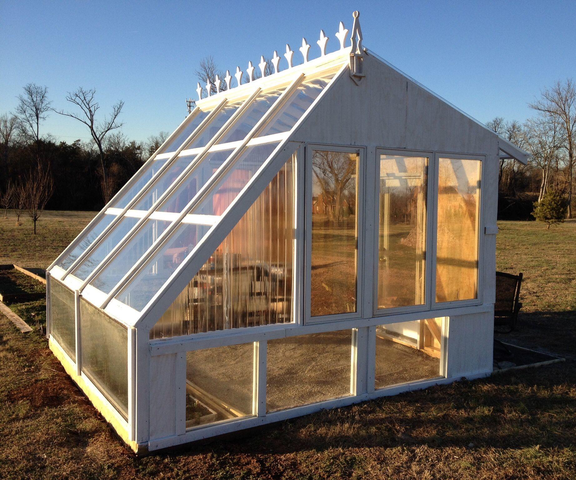 Backyard Greenhouse From Reclaimed Windows Backyard Greenhouse Build A Greenhouse Diy Greenhouse Plans Greenhouse ideas for backyard