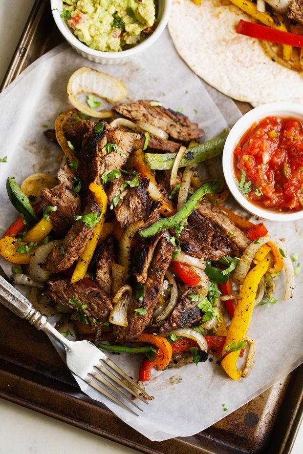 The BEST Steak Fajitas #steakfajitarecipe