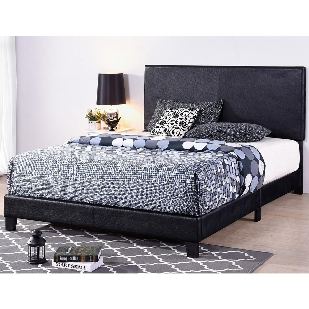 Boyel Living 81 In Faux Leather Upholstered Platform Bed With