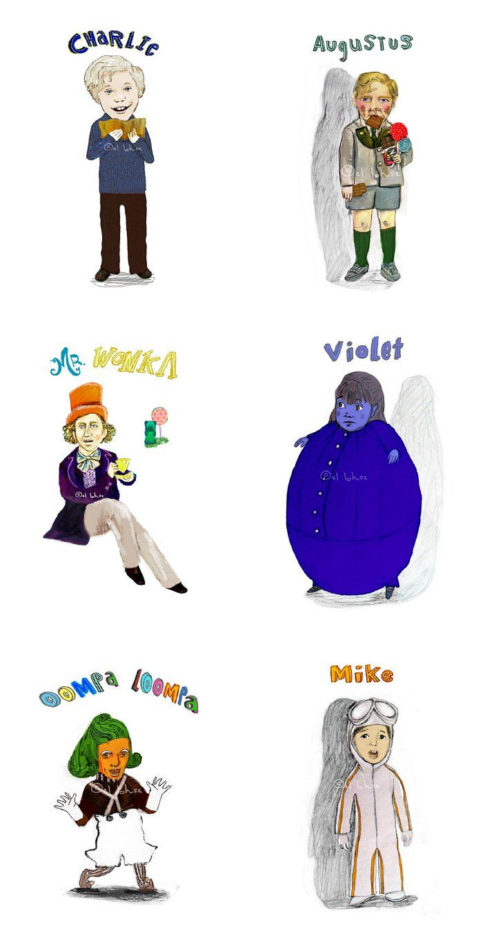 Charlie and the chocolate factory awesome elloh prints for Puerta willy wonka