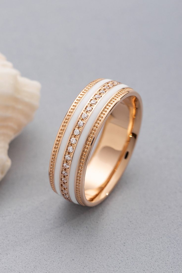 Elegant Women S Wedding Band Made Of Solid 14k Gold And Etsy In 2020 Wedding Rings For Women Womens Wedding Bands Aquamarine Engagement Ring Vintage