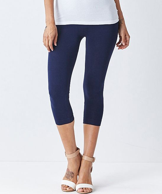 Navy Blue Capri Leggings