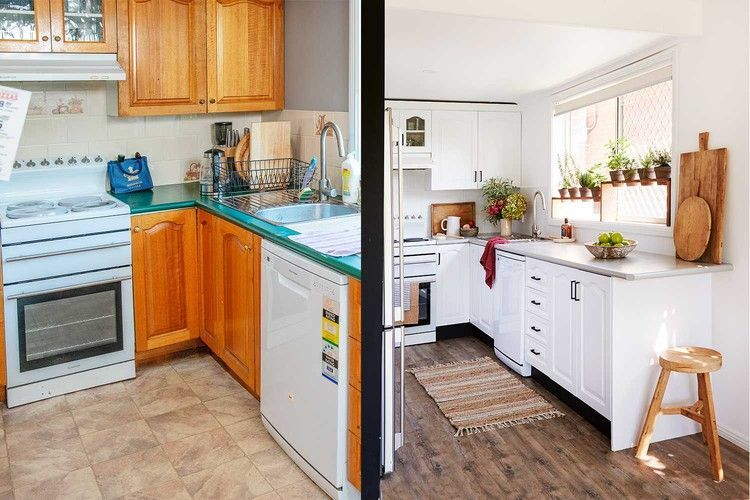 before and after tara transforms a kitchen for under