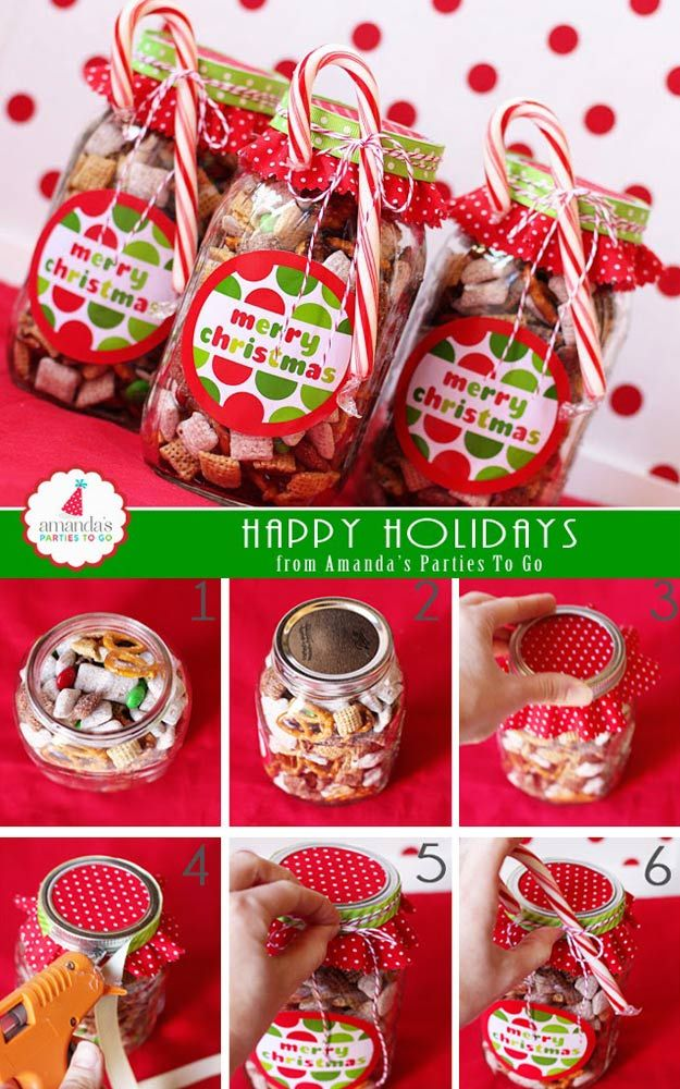 Beautiful Christmas Snack Gift Ideas Part - 4: 53 Coolest DIY Mason Jar Gifts + Other Fun Ideas In A Jar. Christmas Treats  ...