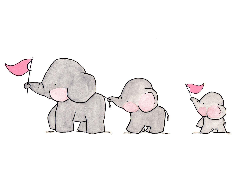 elephants on parade archival print zeichnungen pinterest elefanten drucke und zeichnen. Black Bedroom Furniture Sets. Home Design Ideas