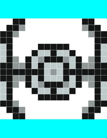 Tie Fighter Pixel Art