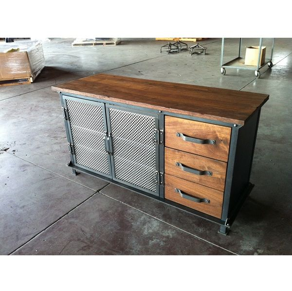 ellis console with drawers vintage industrial furniture wohnen pinterest diy m bel. Black Bedroom Furniture Sets. Home Design Ideas
