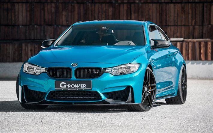 BMW M4 F82 Supercars G Power Tuning Blue Bmw