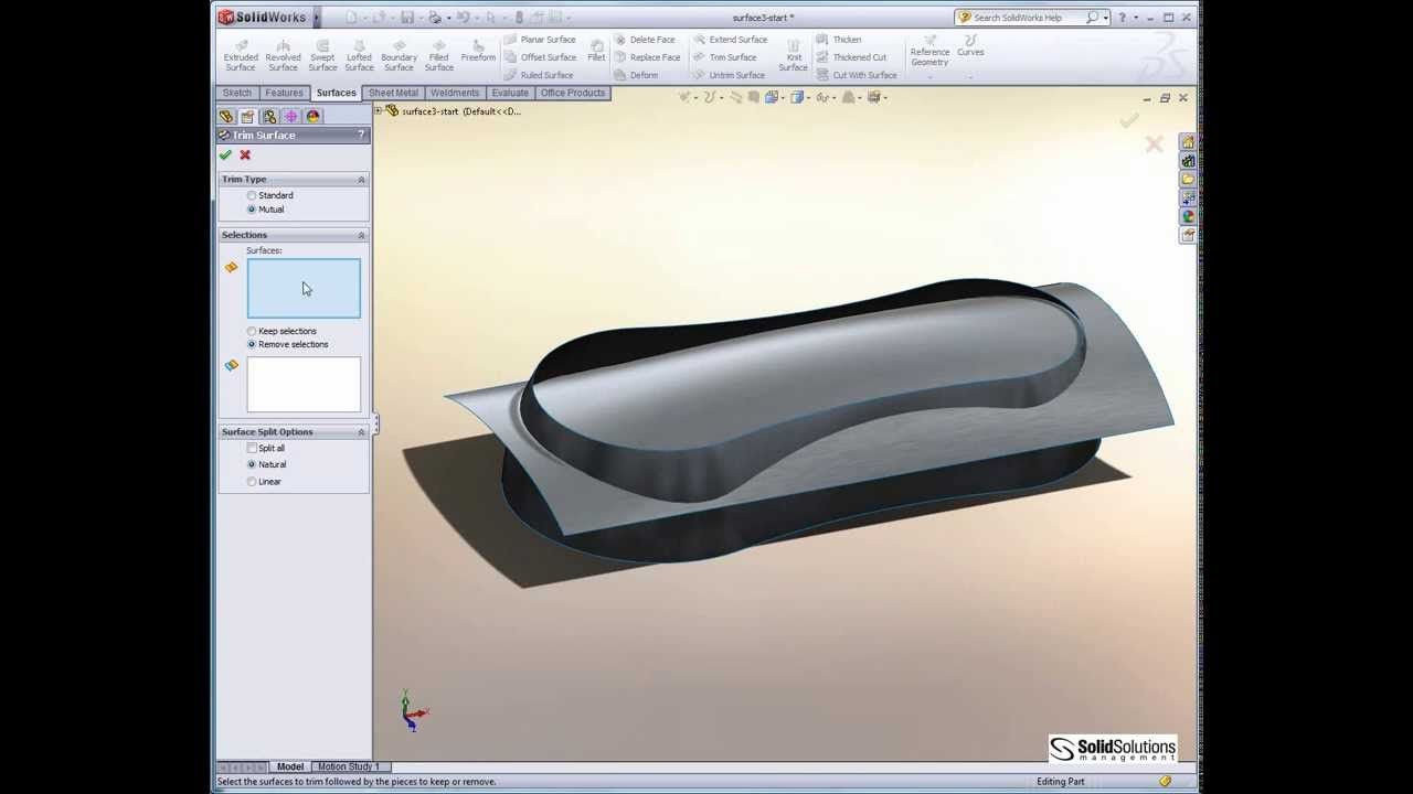 Complex Shapes In Solidworks Part 2 Using Solids And Surfaces Solidworks Tutorial Garden Tool Organization Solidworks