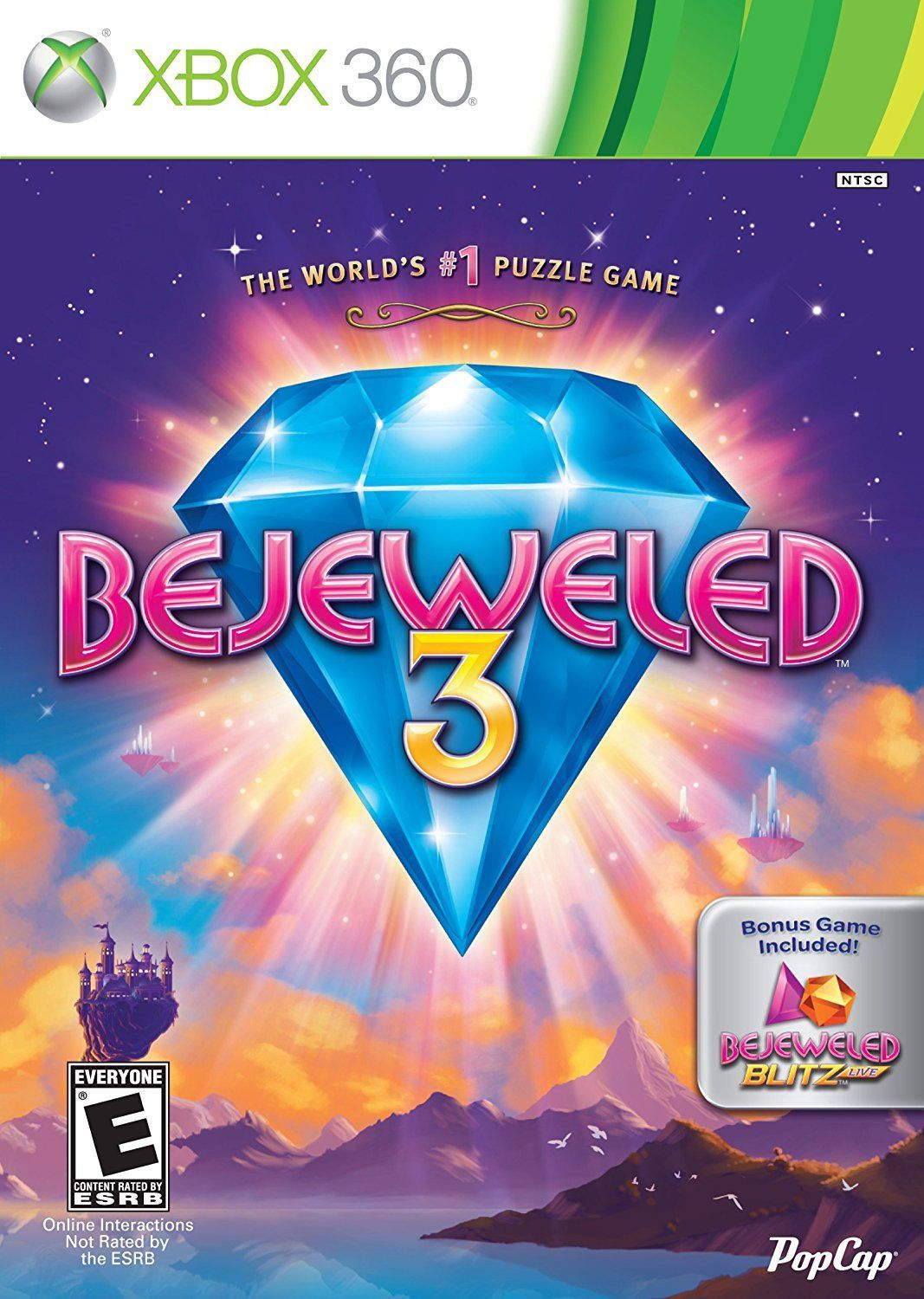 Bejeweled 3 With Bejeweled Blitz Live: Xbox 360: Computer and Video Games -  Amazon