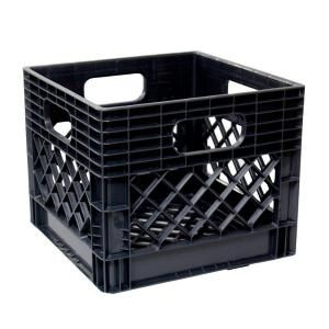 11 In X 13 In X 13 In Black Milk Crate Milk Crate Storage Milk Crates Crate Storage