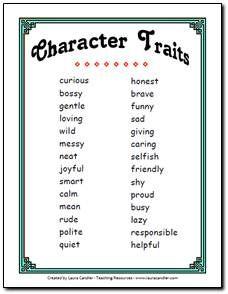 2nd grade character traits need help finding a teaching resource? | teaching, teaching