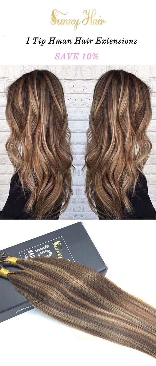 Sunny Hair I Tip 100 Remy Human Hair Extensions Brown And Blonde