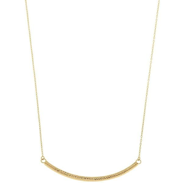 Lord Taylor 14k Yellow Gold Curved Bar Necklace 375 Liked On Polyvore Featuring Jew Gold Bar Pendant Necklace Yellow Gold Bar Necklace Yellow Gold Chain