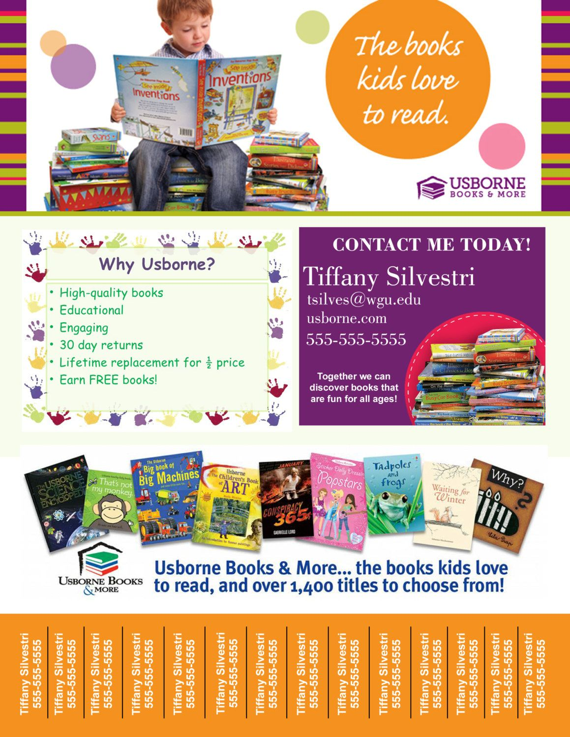 digital usborne books tear off printable flyer by