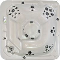 Belize e500 Hot Tub Spa. Excellent energy efficiency. Just enough room for our family. I'm not picky, just need a little hot tub!