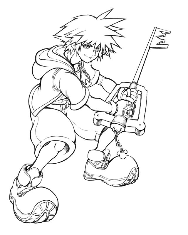 Halloween Town Sora Kingdom Hearts Coloring Pages Coloring