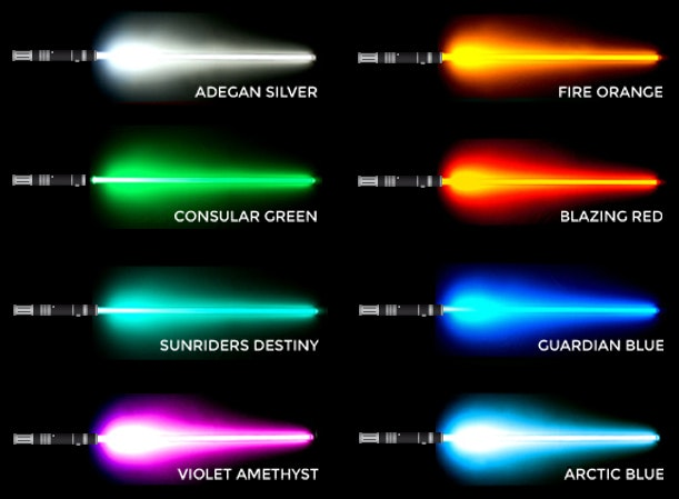 New Pb Wb Powerful Blade And White Border Star Wars Lightsabers V2 With Effects In Their Blades Group 1 Of Normal Lightsabers Models Basic Weapon Red Doubl
