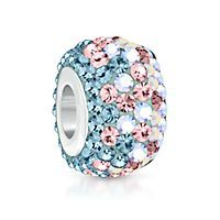 Expressions for Helzberg® Iridescent Blue Crystals Charm