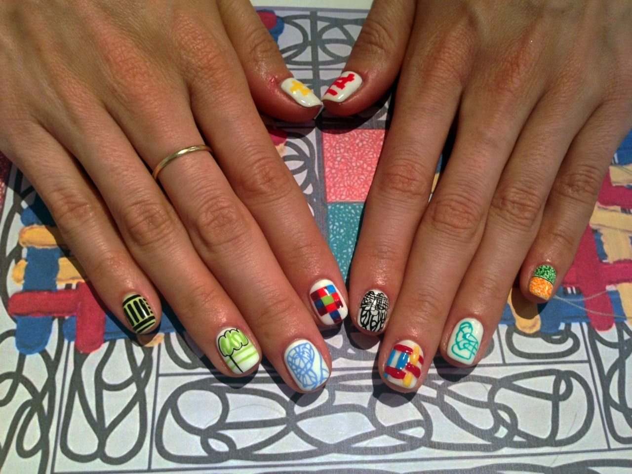 JONATHAN LASKER inspired nail art history   Sartle: Art History Nail ...