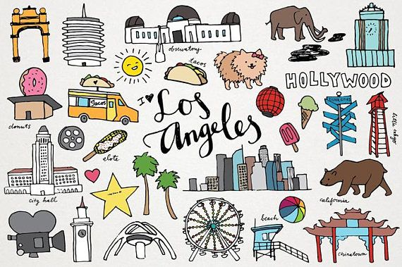 California los angeles. Clipart la clip art