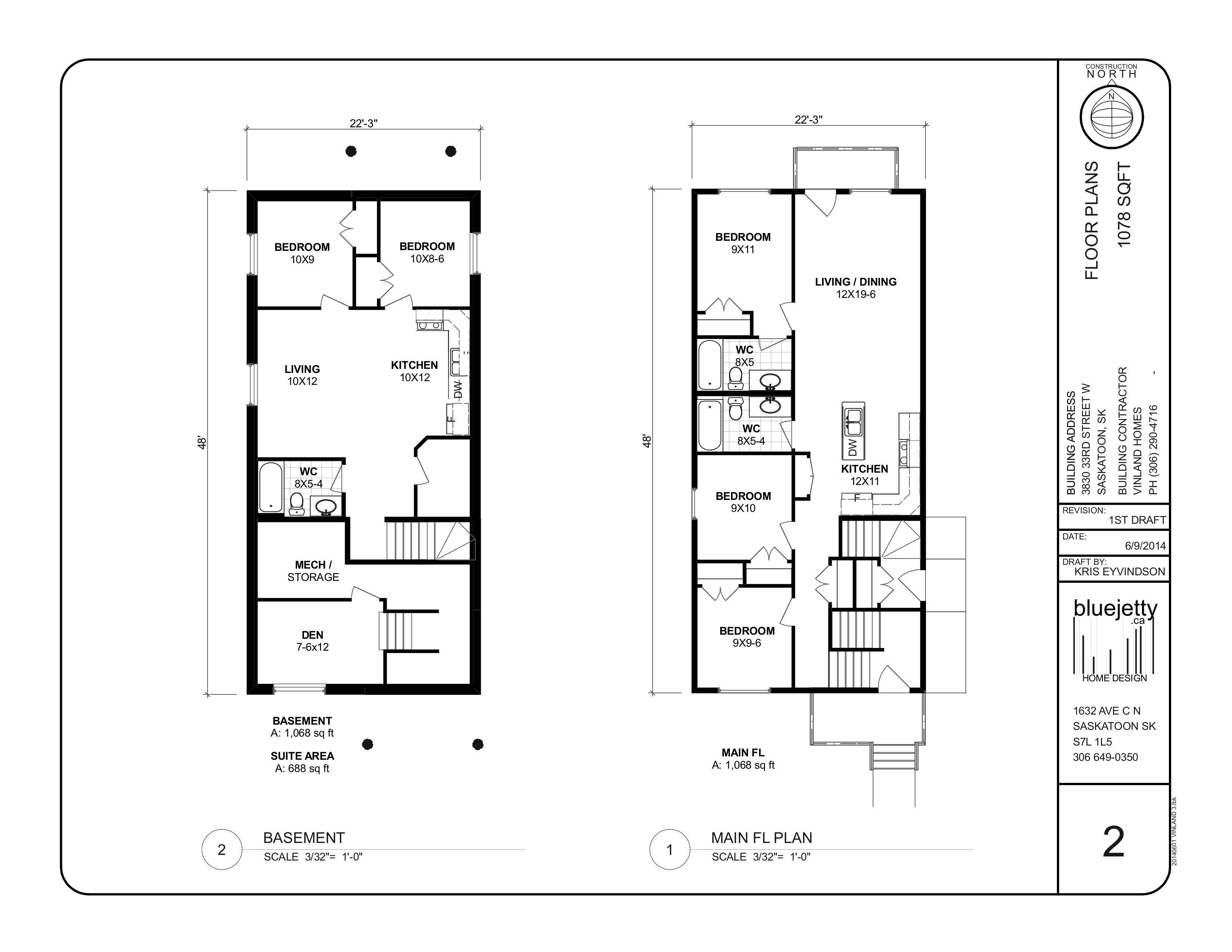 Concept floor plans 2014 home with basement suite for for Basement suite plans