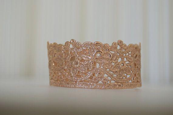 rose gold bracelet  bracelet cuff  pink gold plated  by MyElesi, $70.00