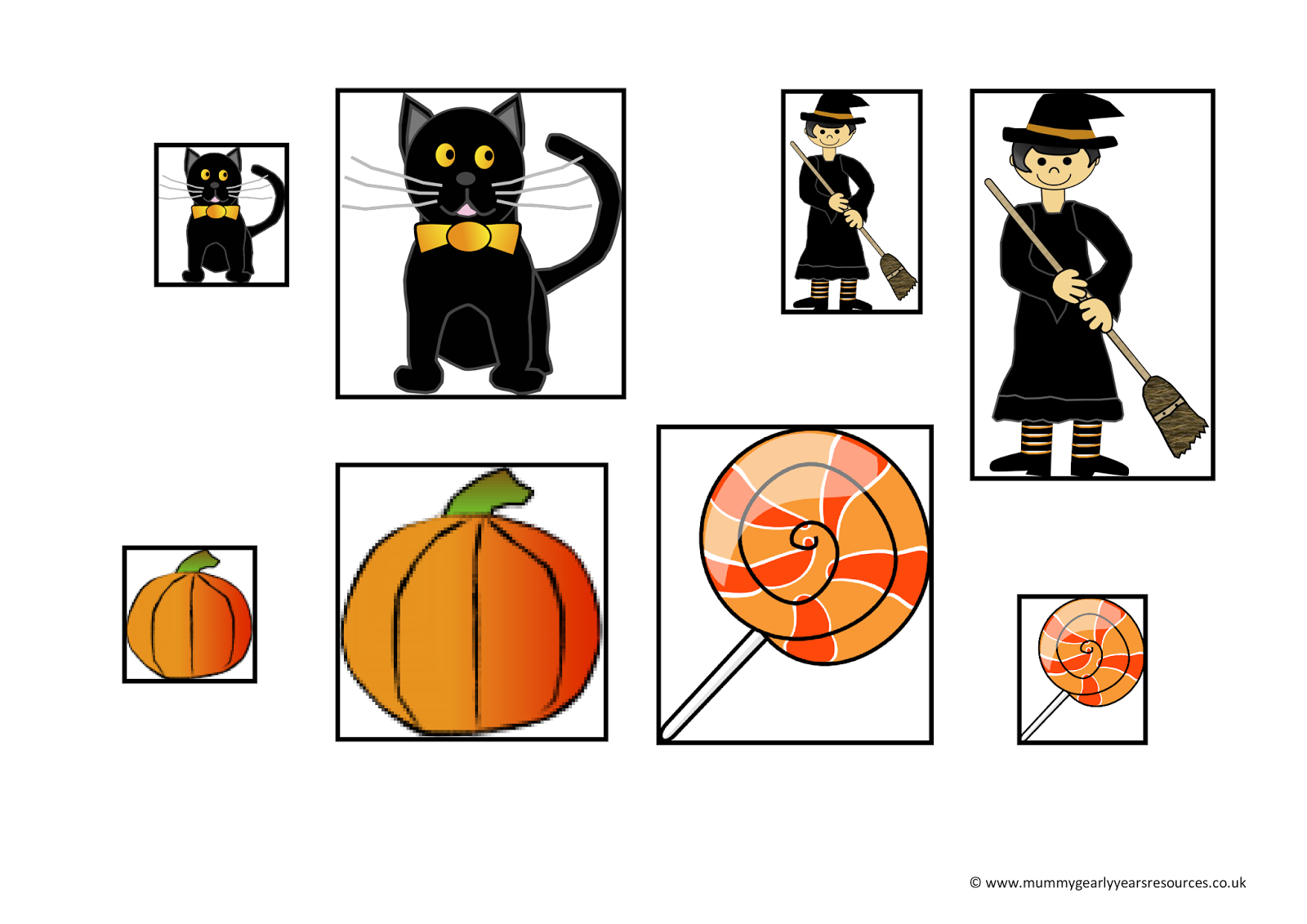 Mummy G Early Years Resources Halloween Big And Small