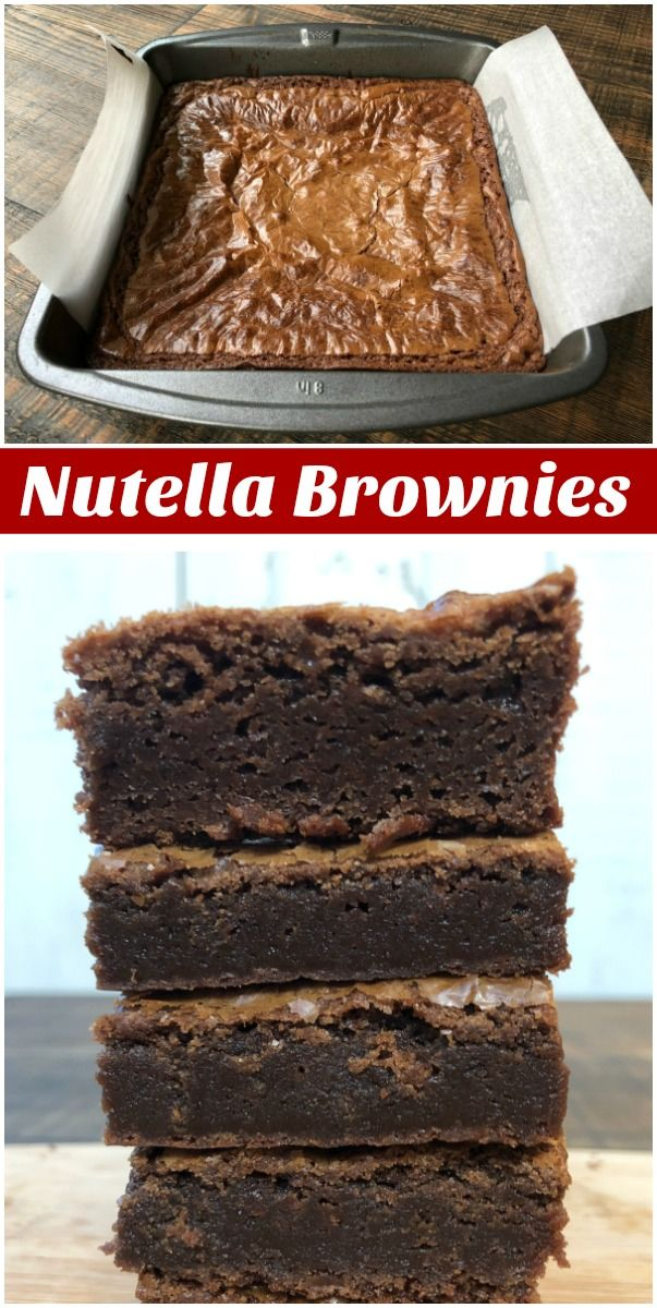 Super Easy Nutella Brownies recipe from