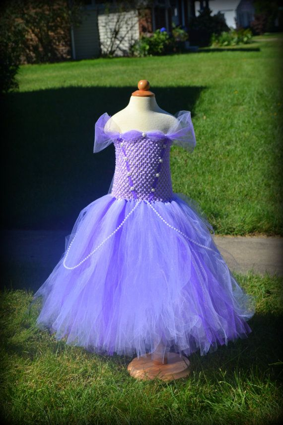 Disney PRINCESS SOPHIA inspired tutu dress from Sophia the First perfect for a Halloween costume, dress up, birthday party or photo shoot