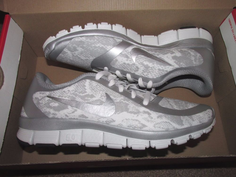 ... switzerland nike free 5.0 v4 ns print womens running shoes 9 metallic  silver 695168 002 nike 36a2c058d