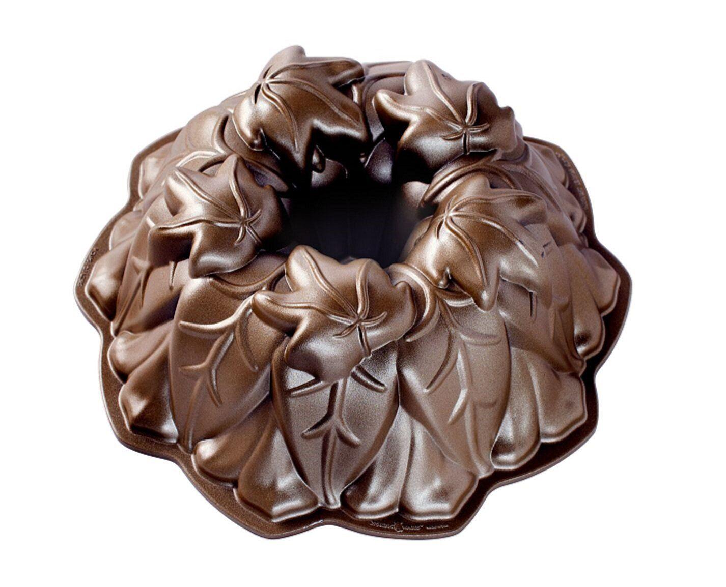 Nordic Ware Autumn Leaves Bundt Pan Bronze Collection