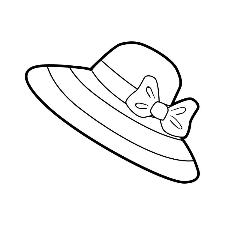 Mewarnai Gambar Topi Berpita Gambar Warna Topi