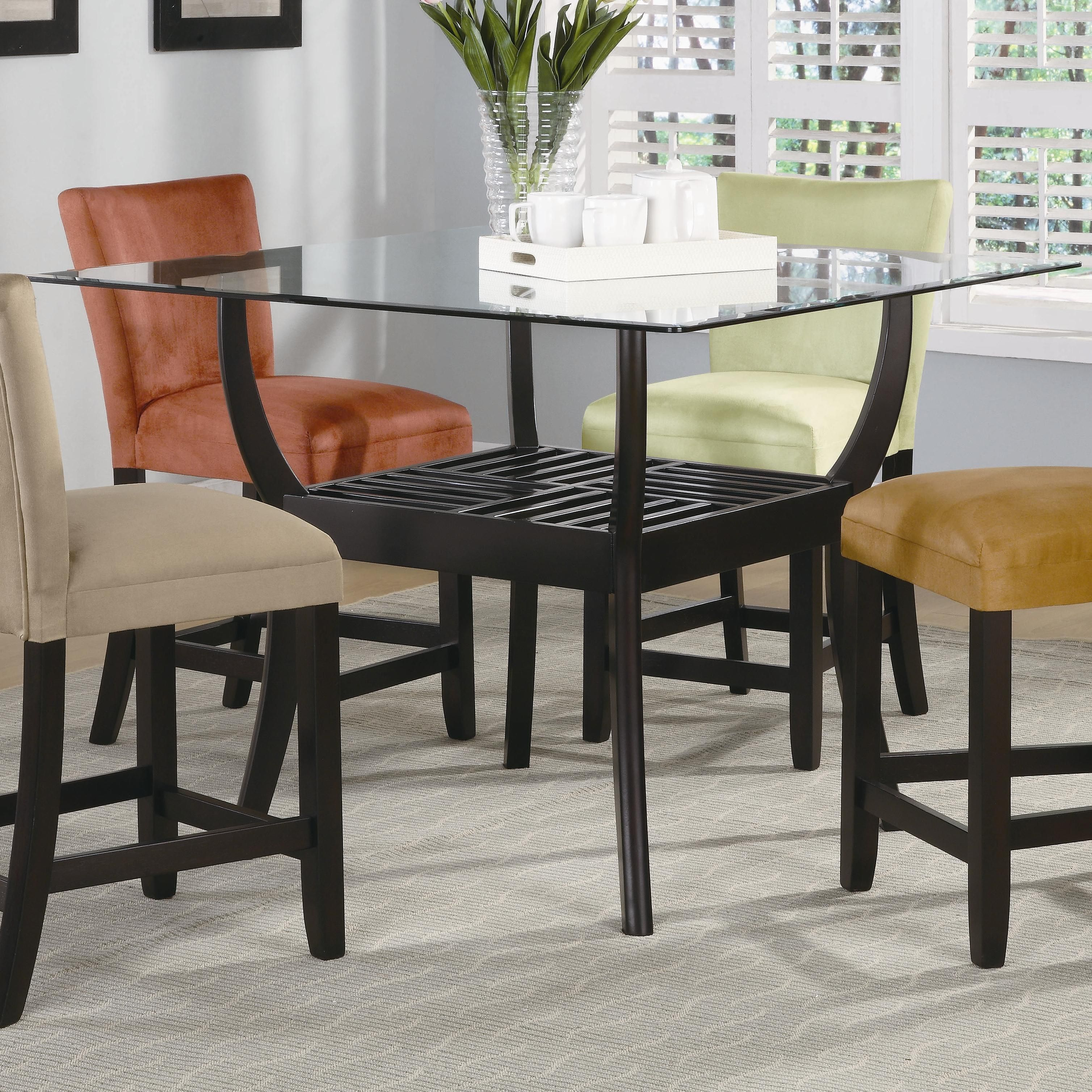Engaging Counter height dining table glass Engaging