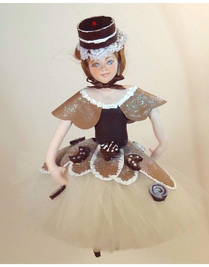 The Nutcracker Ballet: Chocolat Dancer By Gladys Boalt  Christmas Ornament/Decoration
