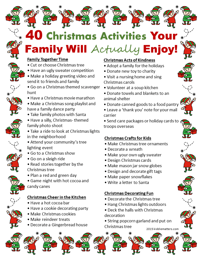 Fun Ideas For Family Christmas Parties Part - 40: 40 Christmas Activities Your Family Will Actually Enjoy
