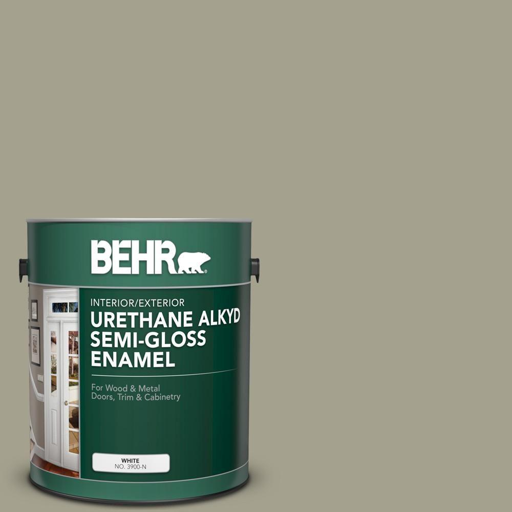 Behr 1 Gal 400f 5 Promenade Urethane Alkyd Semi Gloss Enamel Interior Exterior Paint 393001 Exterior Paint Interior Exterior Interior Paint