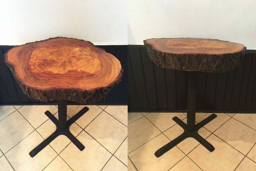 How to Make a Dining Room Table from Tree Trunks