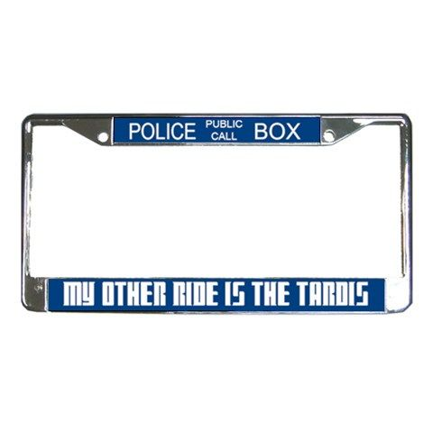 Doctor Who TARDIS License Plate Frame by ~Enlightenup23 on ...