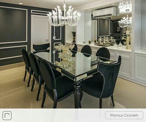 Linda sala de jantar pra fazer altos jantares de sucesso!!! Inspiração de decoração
