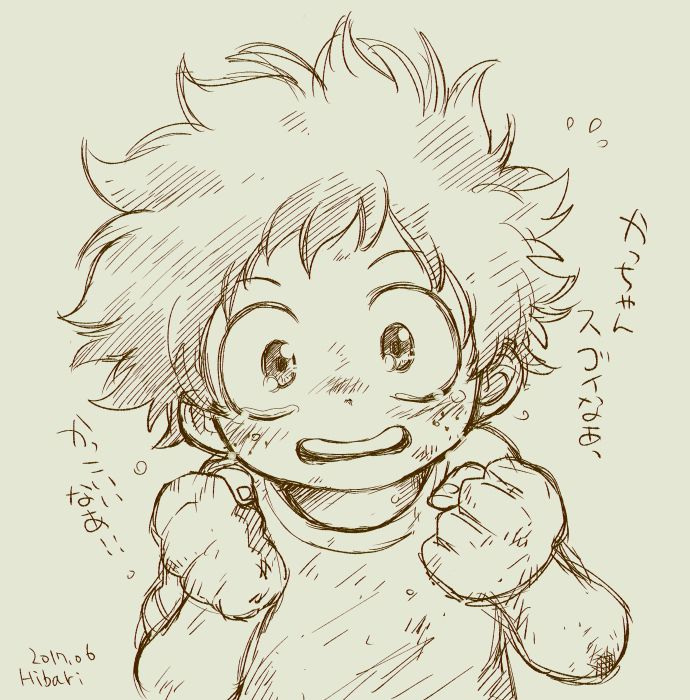 Midoriya Izuku Anime Sketch Anime Drawings My Hero Academia Manga
