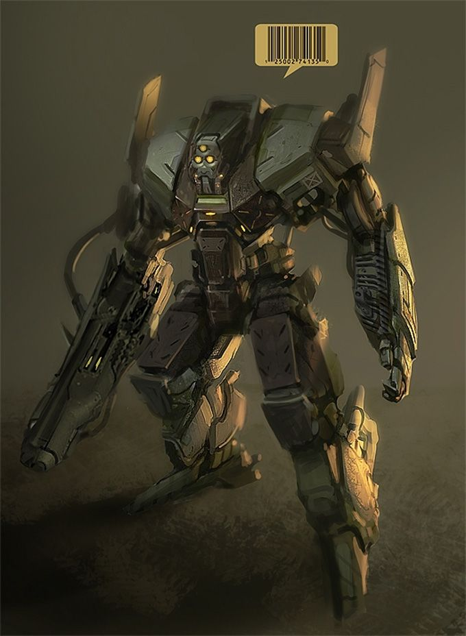Combat Mech Suit Concept Art