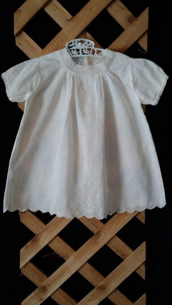 Baby Christening Baptism Dress Gown Antique by frankiesfrontdoor, $25.00