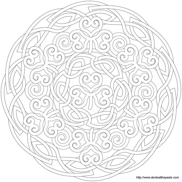 Free Celtic Mandala Coloring Page to Print – Art of FoxVox ... | 736x736