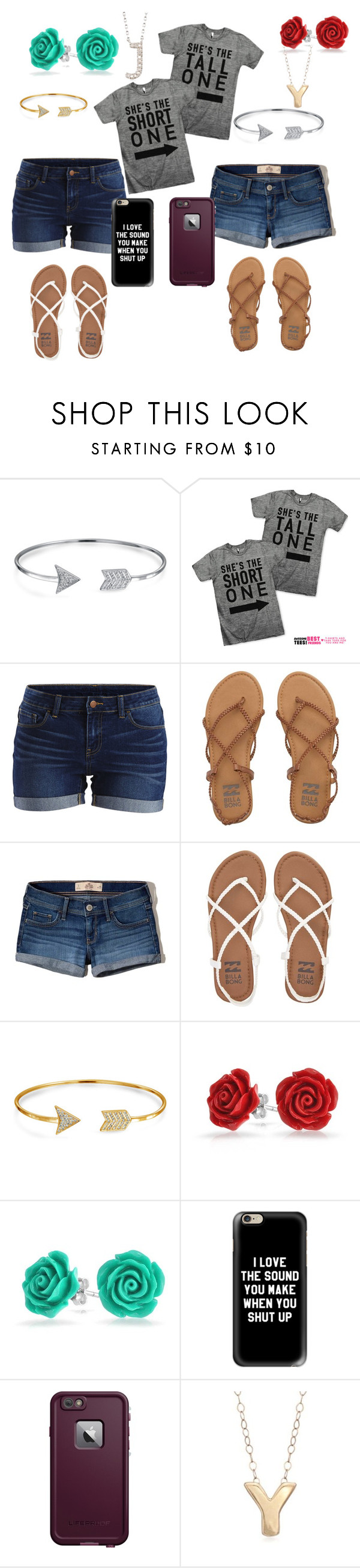 """""""Untitled #64"""" by yvette1118 ❤ liked on Polyvore featuring Bling Jewelry, VILA, Billabong, Hollister Co., Casetify, LifeProof and Ross-Simons"""