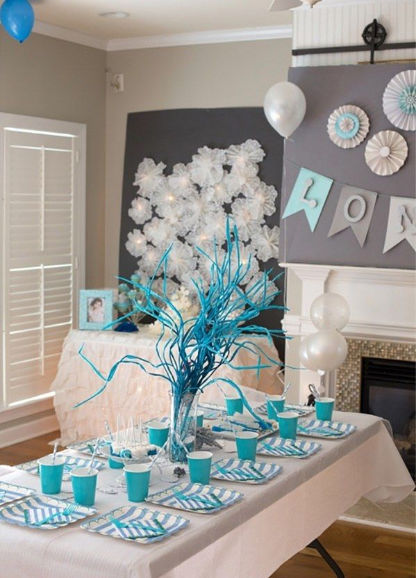 Superb Winter Wonderland Table Decoration Ideas Part - 13: Winter Wonderland Christmas Party Theme Decoration Ideas Kids Party Ideas