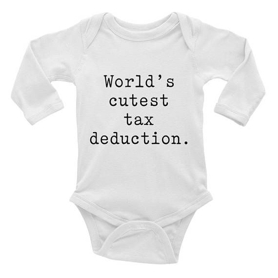 Worlds Cutest Tax Deduction Funny Adorable Infant Gerber Onesie Baby Bodysuit