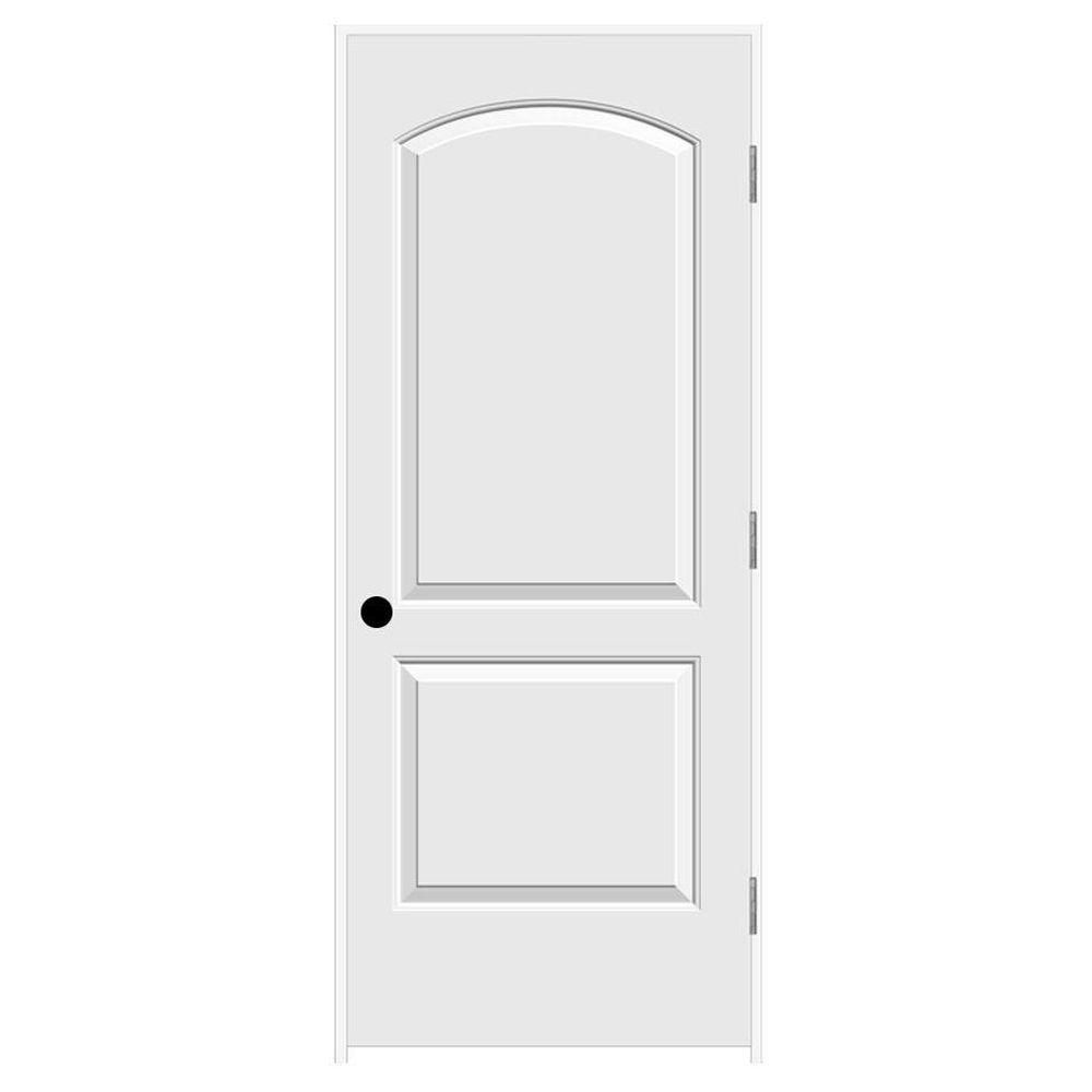 Jeld Wen 24 In X 80 In Continental Primed Left Hand Smooth Solid Core Molded Composite Mdf Single Prehung Interior Door Prehung Interior Doors White Interior Doors Prehung Doors