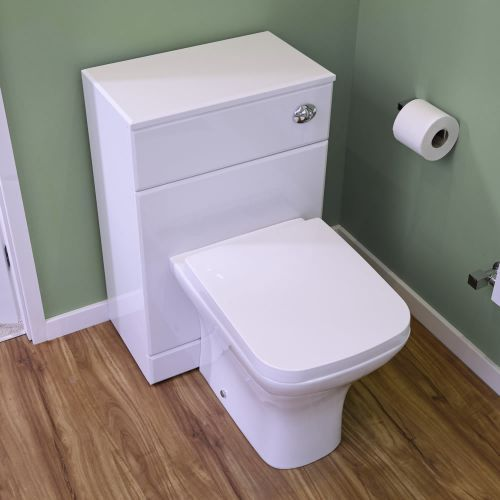 The Milano Modern back to wall toilet is perfect for creating a smart, contemporary look